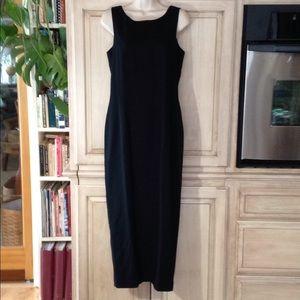 Carole Little formal black dress gown